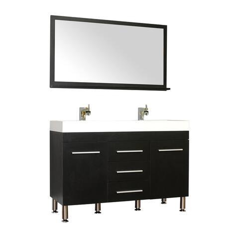 Alya Bath Ripley Collection 48-inch Double Modern Bathroom Vanity Set in Black