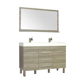 Alya Bath Ripley Collection 48-inch Double Modern Bathroom Vanity Set in Grey