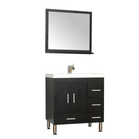 Alya Bath Ripley Collection 30-inch Single Modern Bathroom Vanity Set in Black