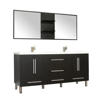 Alya Bath Ripley Collection 67-inch Double Modern Bathroom Vanity Set in Black