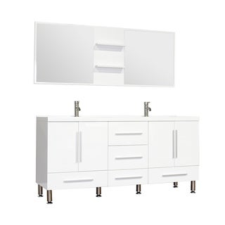 Alya Bath Ripley Collection 67-inch Double Modern Bathroom Vanity Set in White