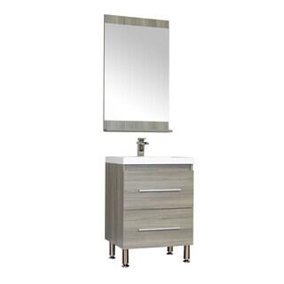 Alya Bath Ripley Collection 24-inch Single Modern Bathroom Vanity Set in Grey