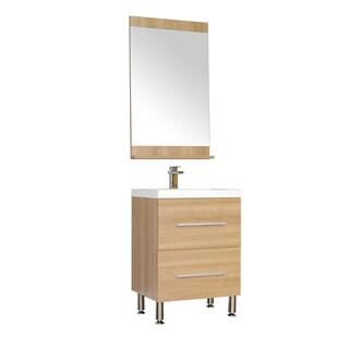 Alya Bath Ripley Collection 24-inch Single Modern Bathroom Vanity Set in Light Oak