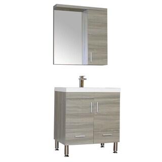 Alya Bath Ripley Collection 30-inch Single Modern Bathroom Vanity Set in Grey