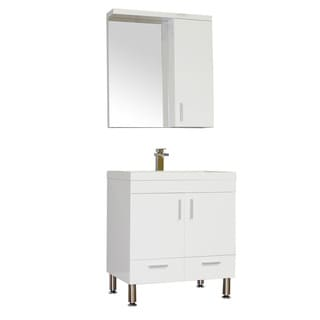 Alya Bath Ripley Collection 30-inch Single Modern Bathroom Vanity Set in White