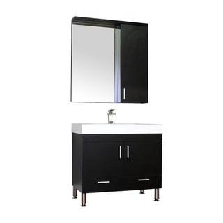Alya Bath Ripley Collection 36-inch Single Modern Bathroom Vanity Set in Black