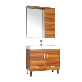 Alya Bath Ripley Collection 36-inch Single Modern Bathroom Vanity Set in Cherry