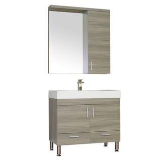 Alya Bath Ripley Collection 36-inch Single Modern Bathroom Vanity Set in Grey