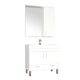 Alya Bath Ripley Collection 36-inch Single Modern Bathroom Vanity Set in White