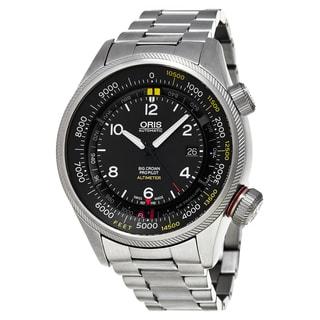 Oris Men's 733 7705 4134-Set 8 23 19 'Big Crown' Black Dial ProPilot Altimeter Swiss Automatic Watch