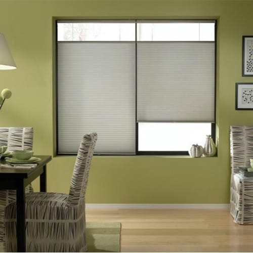 First Rate Blinds Cordless Top Down Bottom Up Cellular Shades in Silver (51 to 51.5 Inches Wide)