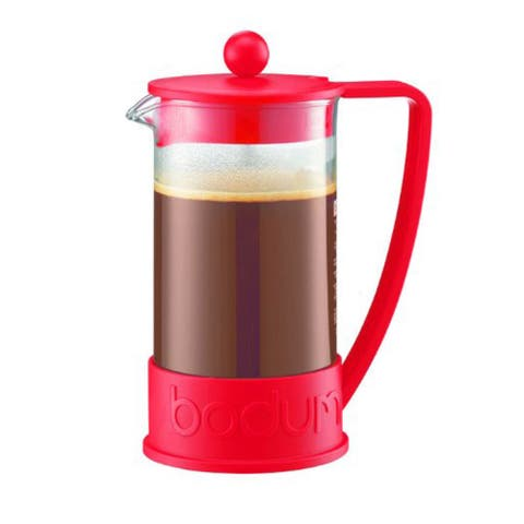 Bodum BRAZIL French Press Coffee Maker, 1-Liter, 8-Cup, 34-Ounce, Red