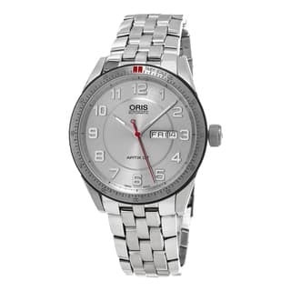 Oris Men's 735 7662 4461 MB 'Artix GT' Silver Dial Stainless Steel DayDate Swiss Automatic Watch|https://ak1.ostkcdn.com/images/products/11417650/P18380890.jpg?impolicy=medium