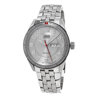 Oris Men's 735 7662 4461 MB 'Artix GT' Silver Dial Stainless Steel DayDate Swiss Automatic Watch