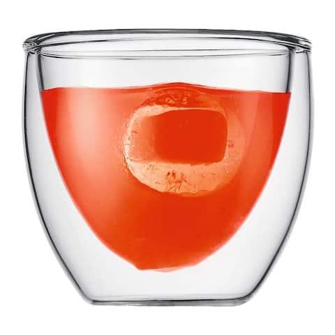 Bodum PAVINA Glass, Double-Wall Insulated Glass,2.5oz, .08, (Set of 2)