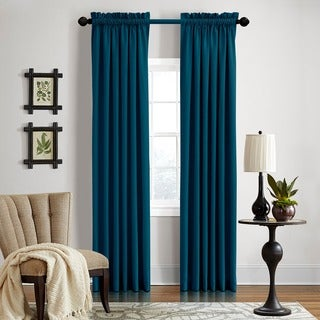 Grand Luxe Gotham Dark Teal Linen Rod Pocket Panel