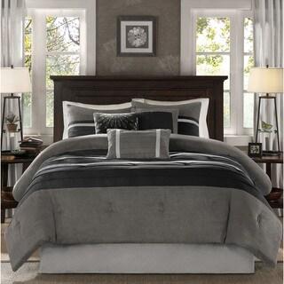 Madison Park Porter Black/ Grey Comforter Set