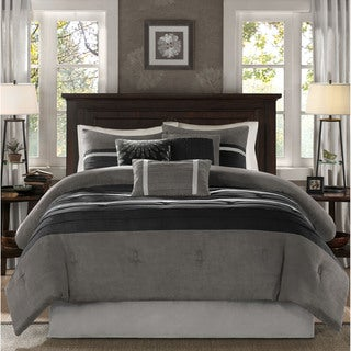 madison park porter black grey comforter set