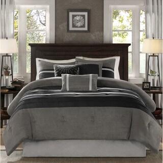 madison park porter black grey comforter set option california king
