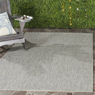 Safavieh Indoor/ Outdoor Courtyard Grey/ Grey Rug (6' 7 Square)