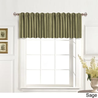 Luxury Collection 100-percent Dupioni Silk Straight Valance (3 options available)