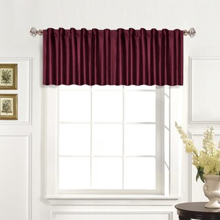 Luxury Collection 100-percent Dupioni Silk Straight Valance