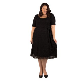 Sealed with a Kiss Women's Kara Polyester Plus-size Lace Cocktail Dress