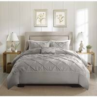 Madison Park Ella Cotton Grey Duvet Cover Set