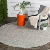 Safavieh Indoor/ Outdoor Courtyard Grey/ Grey Rug - 6' 7 Round