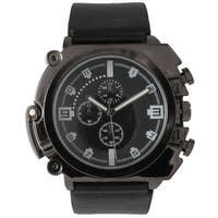 Olivia Pratt Men's Metal Leather Decorative Chronograph Watch