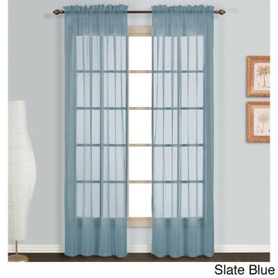 Blue Sheer Curtains D
