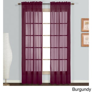 Sheer Curtain Panel Pair (More options available)