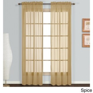 Luxury Collection Monte Carlo Sheer Curtain Panel Pair (59 w x 63 l - Bronze)