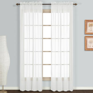 Link to Luxury Collection Monte Carlo Sheer Curtain Panel Pair Similar Items in Window Treatments