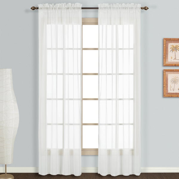 Luxury Collection Monte Carlo Sheer Curtain Panel Pair. Opens flyout.