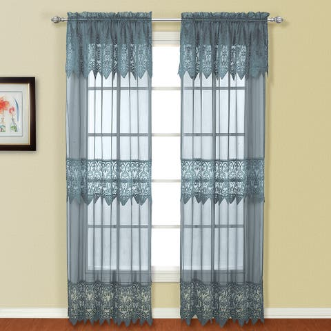 Luxury Collection Valerie Semi-Sheer Curtain Panel Pair
