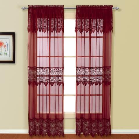 Luxury Collection Valerie Semi-Sheer Curtain Panel Pair