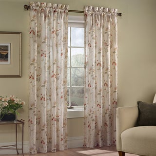 Luxury Collection Chantelle Crushed Voile Printed Floral Curtain Panel Pair