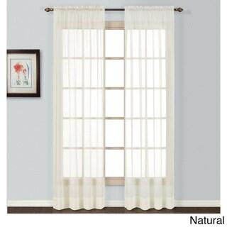 Neutral Semi-sheer Batiste Woven Single Curtain Panel