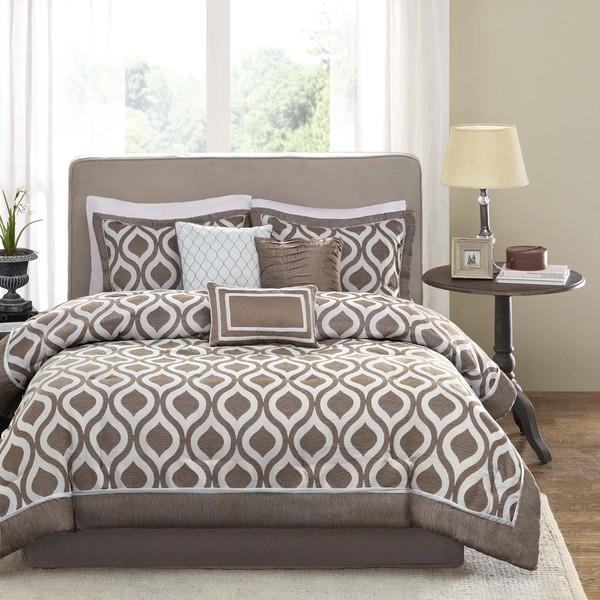 Madison Park Brighton Taupe Comforter Set