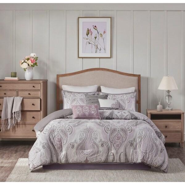 Madison Park Morena Purple Cotton Comforter Set