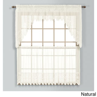 Valerie Macrame and Sheer Voile Kitchen Tiers and Toppers (5 options available)
