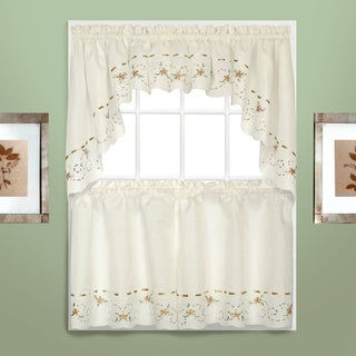 Luxury Collection Rachael Embroidered Florals with Ribbon Kitchen Tiers and Toppers (4 options available)