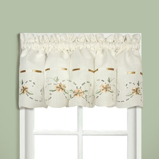 Rachael Embroidered Florals with Ribbon Kitchen Tiers and Toppers