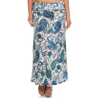 MOA Collection Plus Paisley Maxi Skirt