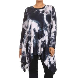 MOA Collection Plus Tie Dye Shirt Dress|https://ak1.ostkcdn.com/images/products/11418910/P18382025.jpg?impolicy=medium