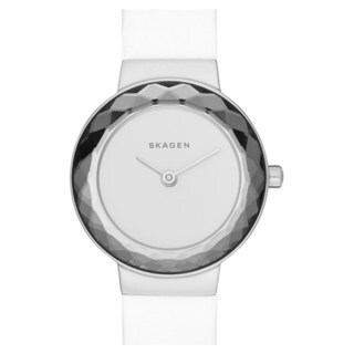 Skagen Women's SKW2424 Leonora Analog White Dial White Leather Watch