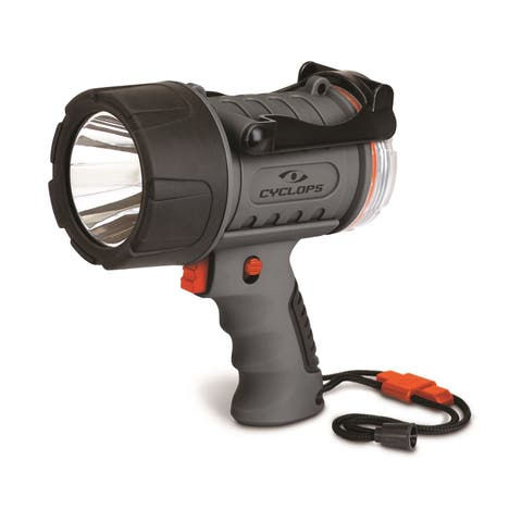 Cyclops 300 Lumen Rechargeable Water Proof Spotlight Grey