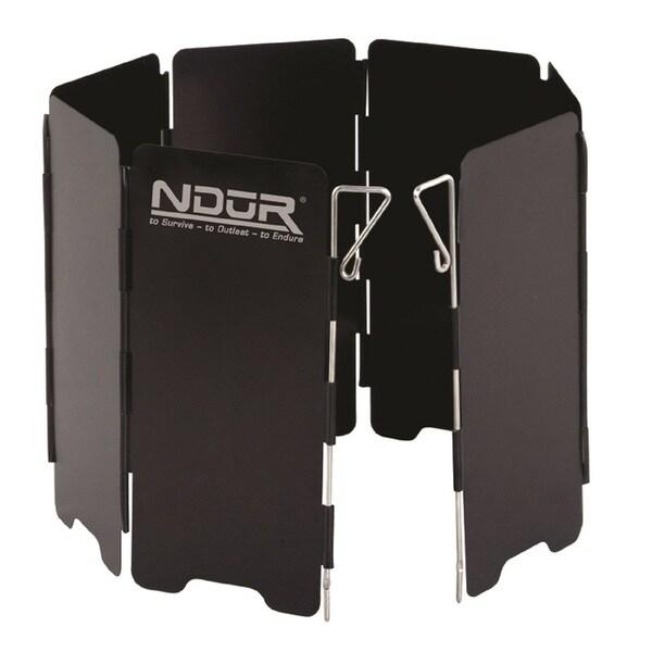 NDuR Mini Stove Windshield Black-Large