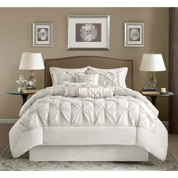 Madison Park Lafayette White 7-piece Comforter Set